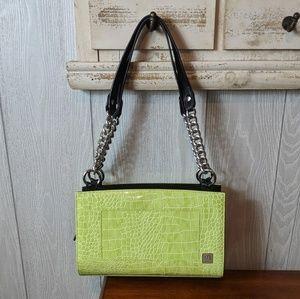 EUC Miche green double strap  purse